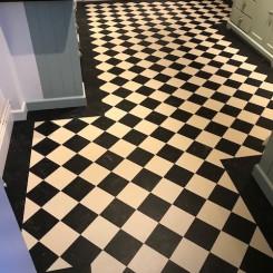 Inlay Lino (Linoleum) Flooring Domestic Project