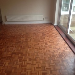 Sanded and Sealed Parquet Flooring- Dining Room