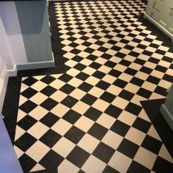 Inlay Lino (Linoleum) Flooring Domestic Project