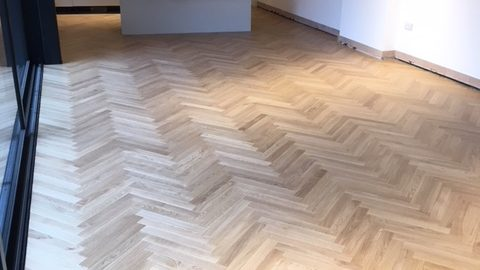 Oak Herringbone Wood Flooring